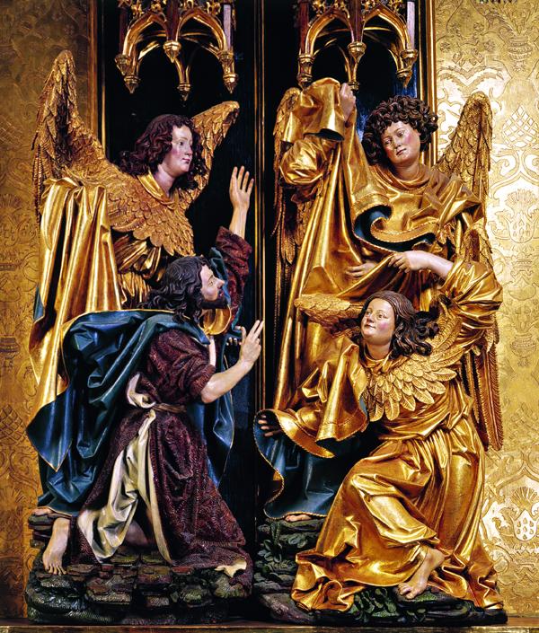 Grupa chrztu Chrystusa, l. 60. XV w. (lub 1516 r.); Kraków, kościół św. Floriana