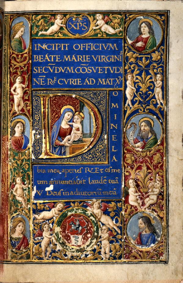 Modlitewnik królowej Bony Sforzy, 1492, Zamek Królewski w Warszawie
