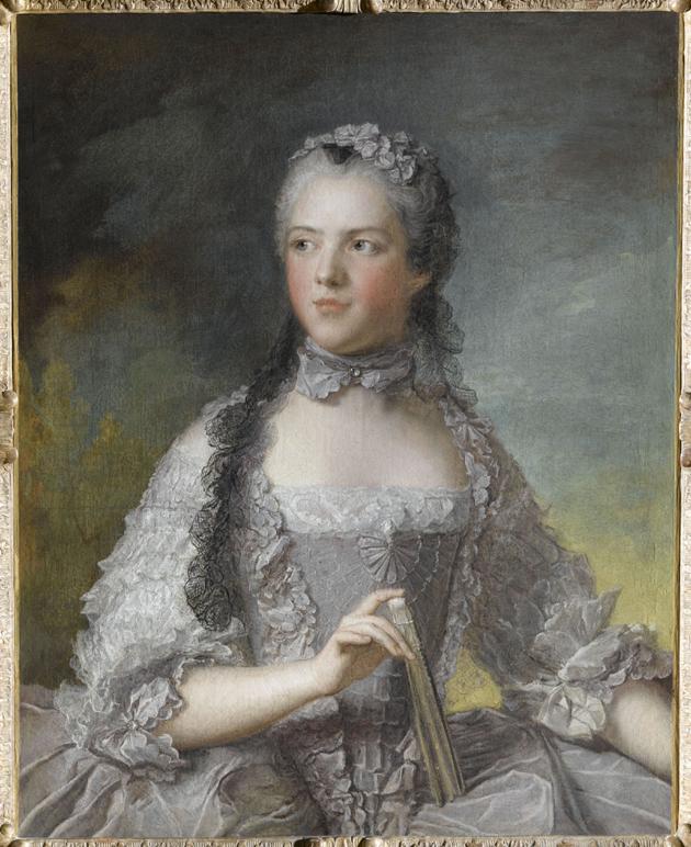 Jean-Marc Nattier, Madame Adélaïde z wachlarzem, Wersal, Muzeum Państwowe Pałaców w Wersalu i w Trianon