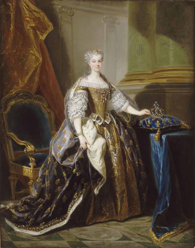 Jean-Baptiste van Loo, Portrait de Maria Leszno, Varsovie, Château Royal de Varsovie, le Musée national des châteaux de Versailles et dépôts de Trianon
