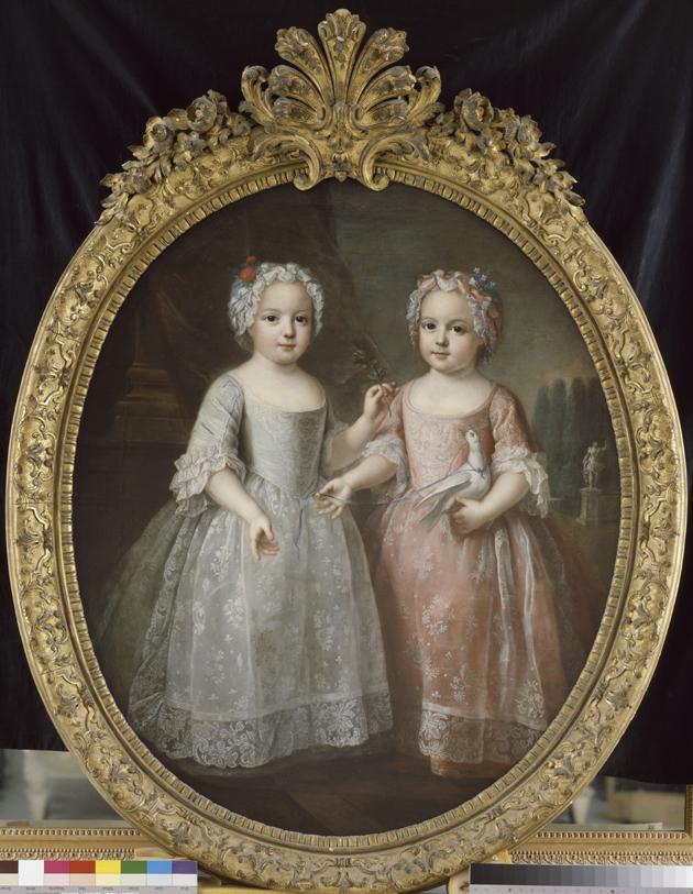 Pierre Gobert, Portret Marii Ludwiki Elżbiety i Anny Henrietty, najstarszych córek Ludwika XV i Marii Leszczyńskiej, Wersal, Muzeum Państwowe Pałaców w Wersalu i w Trianon